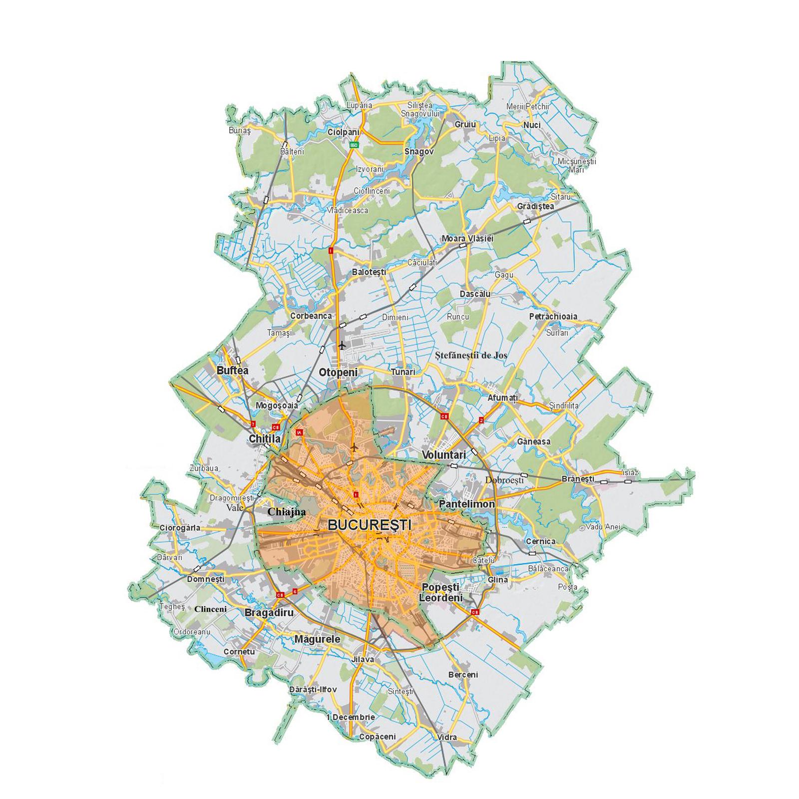 Harta Politică A Ilfovului Observator De Ilfov