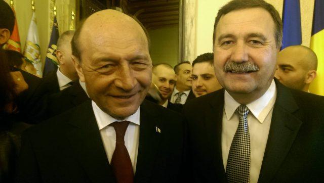 Rizia Tudorache, alături de Traian Băsescu